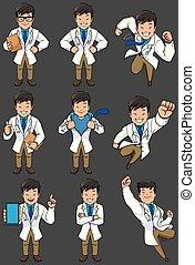 セット, アジア人, 医者