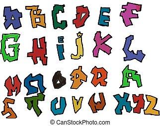 セット, アルファベット, 手紙