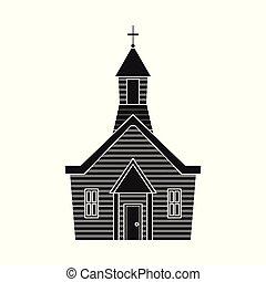 セット, キリスト教徒, illustration., 聖書, オブジェクト, 隔離された, ベクトル, 教会, logo., 株