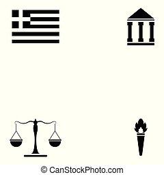 セット, ギリシャ, アイコン
