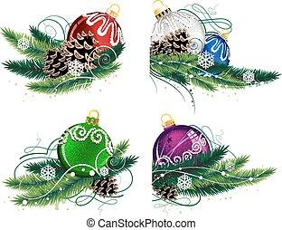 セット, クリスマスの 装飾
