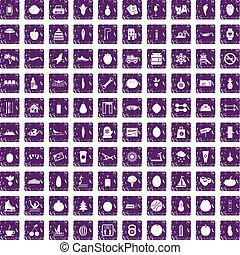 セット, グランジ, アイコン, 紫色, wellness, 100
