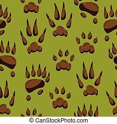 セット, サル, 足, pawky, seamless, 動物, pawed, ペット, ほ乳類, イラスト, 手, 熊, 背景, フィート, 犬, ねこ, ベクトル, ステップ, パターン, 野生, かぎつめ, ∥あるいは∥, animalistic