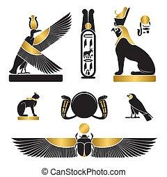 セット, シルエット, 古代エジプト