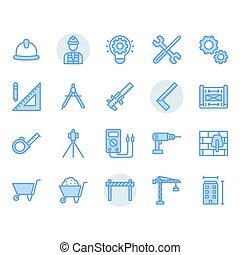 セット, シンボル, アイコン, 工学