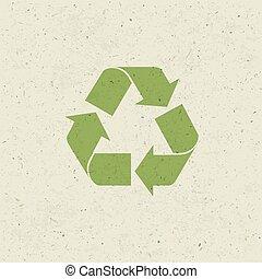 セット, シンボル, ペーパー, リサイクルされる, ベクトル, デザイン, texture.