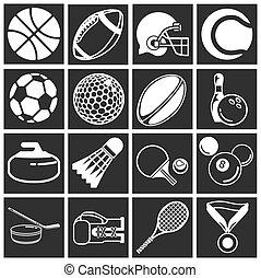 セット, スポーツ, アイコン