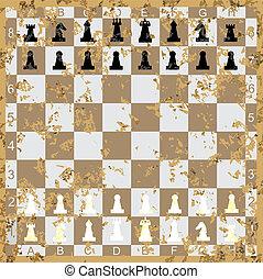 セット, チェス, 数字, 型, w