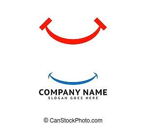 セット, テンプレート, 微笑, ロゴ, ベクトル, アイコン, デザイン