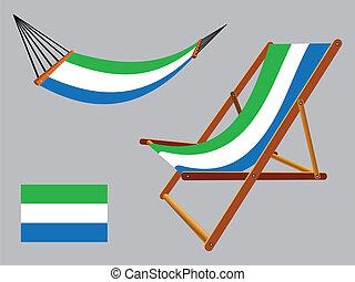 セット, デッキ, ハンモック, 山脈, 椅子, leone