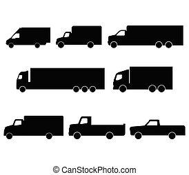 セット, トラック, アイコン