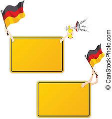 セット, ドイツ語, flag., フレーム, 2, メッセージ, スポーツ