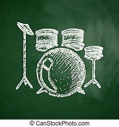 セット, ドラム, アイコン