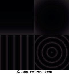 セット, パターン, 抽象的, seamless, 黒, 白