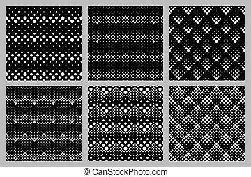 セット, パターン, seamless, 幾何学的, レトロ, 背景, 点