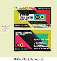 セット, ビジネス, ベクトル, 背景, ピクセル, カード