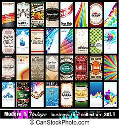 セット, ビジネス, &, 型, 現代, -, コレクション, 1, カード