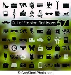 セット, ファッション, アイコン