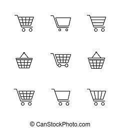 セット, ベクトル, アイコン, 金融, illustration., 買い物