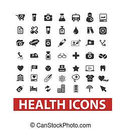 セット, ベクトル, 健康, アイコン