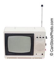 セット, ポータブル, アンテナ, tv, 型, 白