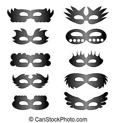 セット, マスク, アイコン