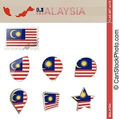 セット, マレーシアの旗, セット, #170