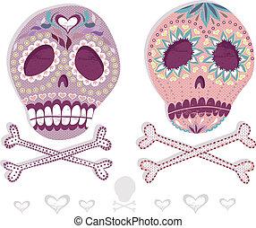 セット, メキシコ人, 頭骨, 砂糖