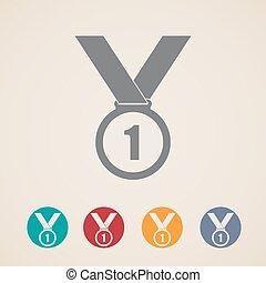 セット, メダル, アイコン