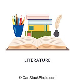 セット, 主題, 要素, 学校, literature.
