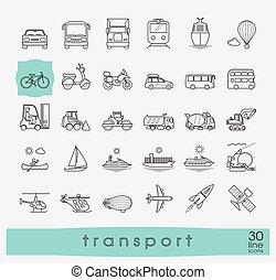 セット, 交通機関, icons.