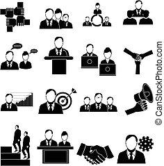 セット, 人々ビジネス, アイコン