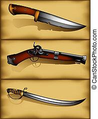 セット, 古代武器