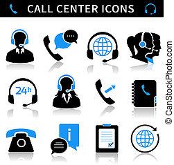 セット, 呼出し 中心, サービス, アイコン