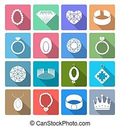 セット, 宝石類, アイコン
