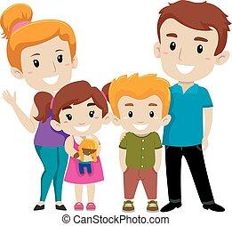 セット, 家族, 幸せ