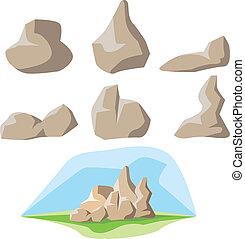 セット, 岩