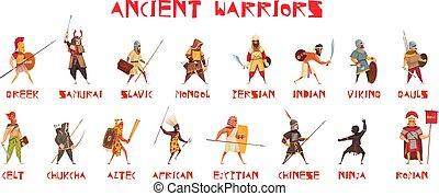 セット, 戦士, 古代