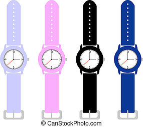 セット, 手首, 腕時計, 子供