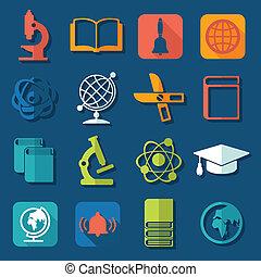 セット, 教育, アイコン