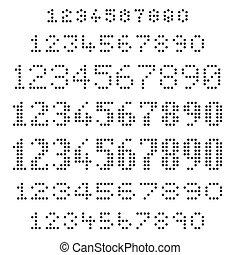 セット, 数, 点を打たれた, 分類される