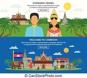 セット, 文化, 2, カンボジア人, 水平なバナー