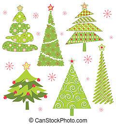 セット, 木, クリスマス
