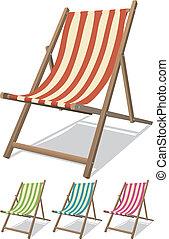 セット, 椅子, 浜