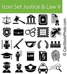 セット, &, 正義, ii, 法律, アイコン