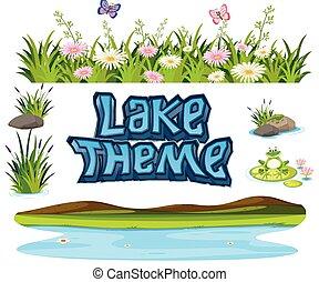セット, 湖, 要素