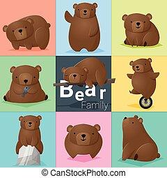 セット, 熊, 家族