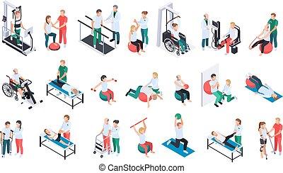 セット, 物理療法, 等大, リハビリテーション