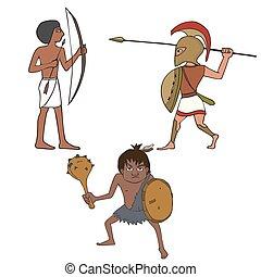 セット, 特徴, 戦士, 歴史的, 古代
