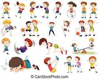 セット, 特徴, 練習, 子供